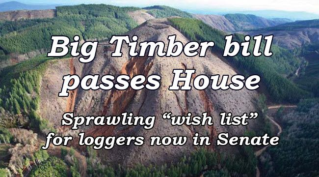 Big Timber bill passes House  Sprawling 'wish list' for loggers now in Senate