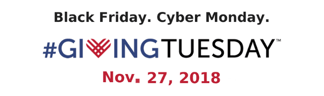 Black Friday. Cyber Monday. #GivingTuesday