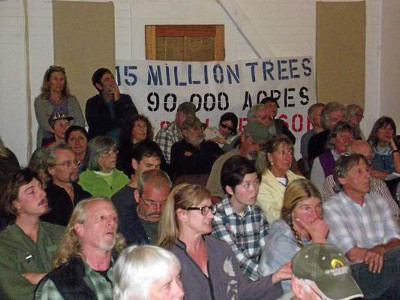 >Forests Forever canvassers lend their support at hearing in Mendocino County